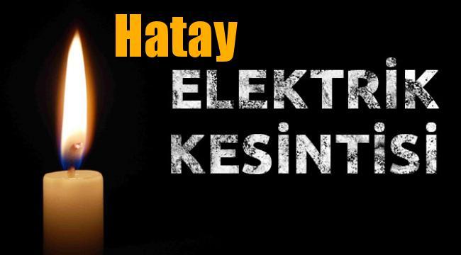 Hatay Elektrik Kesintisi