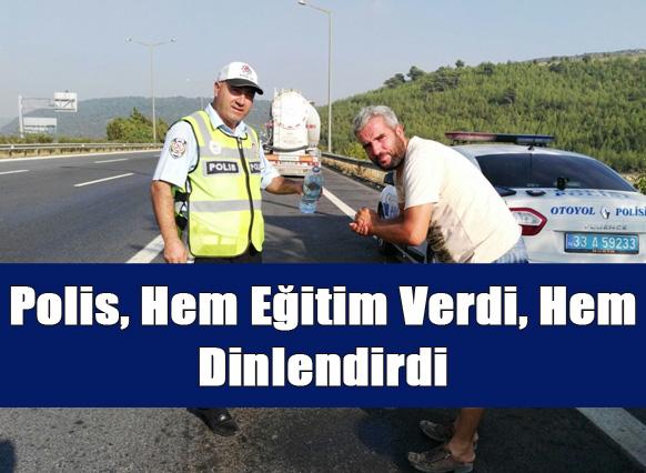 Mersin Polisinden Araç Sürücülerine Hem Denetim Hem Eğitim