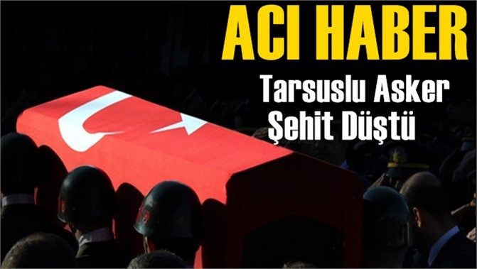 Mersin'e Acı Haber, Tarsuslu Asker Hakkari Çukurca Şehit Düştü