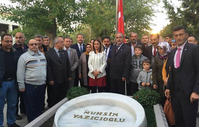 BBP'nin Şehit Lideri Muhsin Yazıcıoğlu'nun Kabrini Ziyaret Ettiler