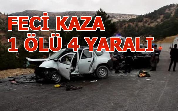 Mersin Mut'ta Trafik Kazası: 1 Ölü, 4 Yaralı