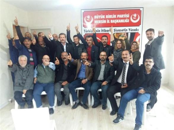 Büyük Birlik Partisi Akdeniz İlçe Kongresi Yapıldı, Başkan Kadri Er Oldu
