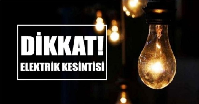 Mersin'in 3 Günlük Planlı Elektrik Kesinti Programı