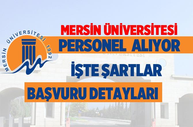 Mersin Üniversitesi Personel Alımı Yapıyor