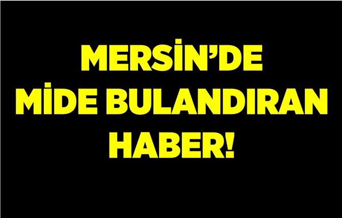 Mersin'den İğrenç Haber