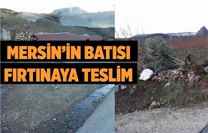 Mersin'in Batısında Fırtına Tır Devirdi