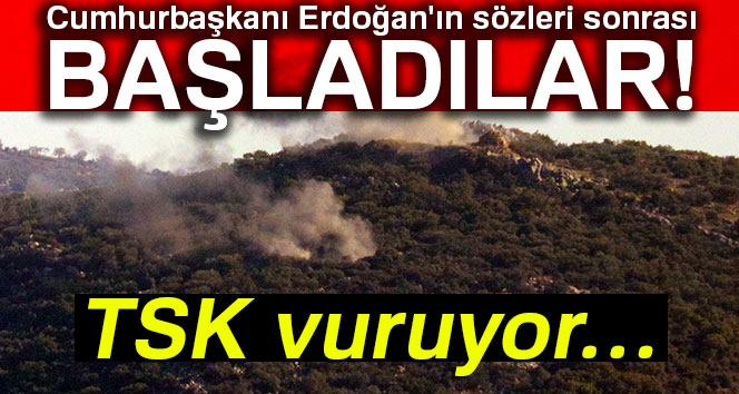 TSK, Afrin'i Vurmaya Başladı