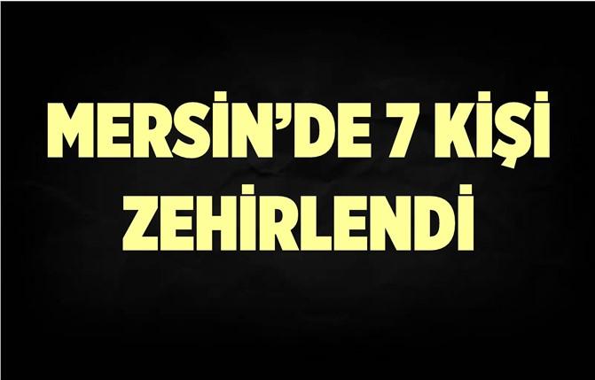 Mersin'de 7 Kişi Zehirlendi