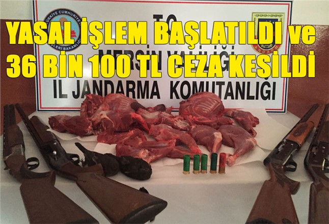 Kaçak ve Yasak Avlanmaya 36 Bin 100 Lira Ceza