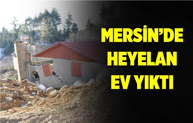 Mersin'de Heyelan Ev Yıktı