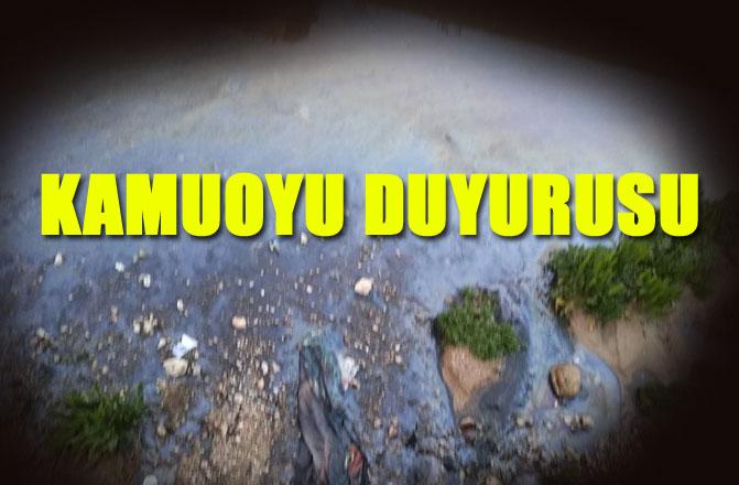 Mersin'de Petrol Türevi Maddenin Karışması Konusunda Kamuoyu Açıklaması