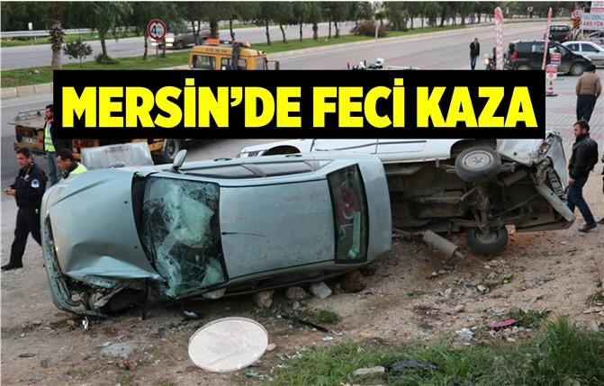 Mersin'de Trafik Kazası, Erdemli İlçesinde Otomobil Duran Araca Çarptı