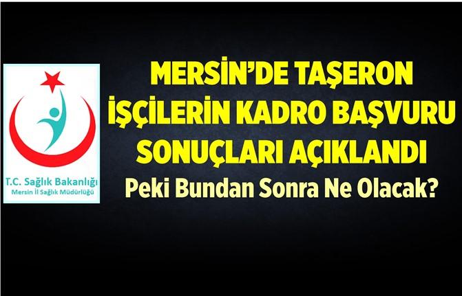 Mersin'de Kadro İçin Başvuran Sağlık Çalışanlarına Önemli Duyuru