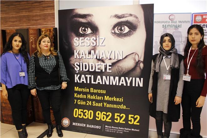 """Hemşirelik Meslek Yüksek Okulu Öğrencilerine """"Kadına Şiddet"""" Anlatıldı"""