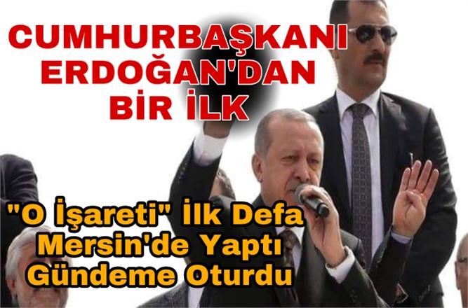 Cumhurbaşkanı Erdoğan'dan Bozkurt İşareti