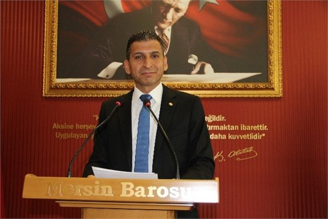 Mersin Barosu Başkanı Ali Er'den Açıklama