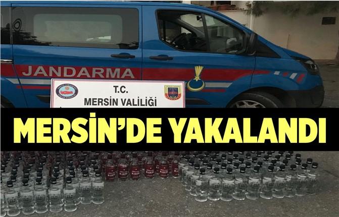Mersin'de Kaçak İçki Yakalandı