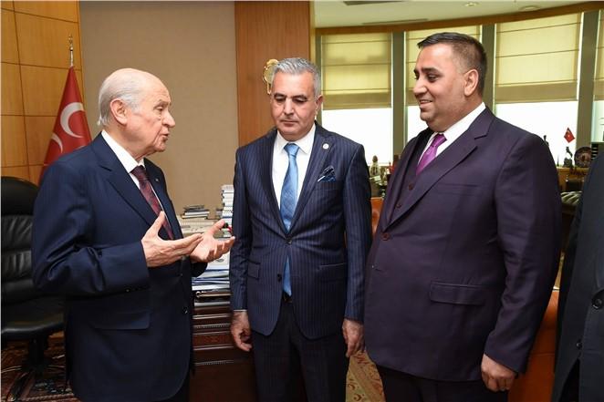 Başkan Can MHP Genel Merkezi'nde