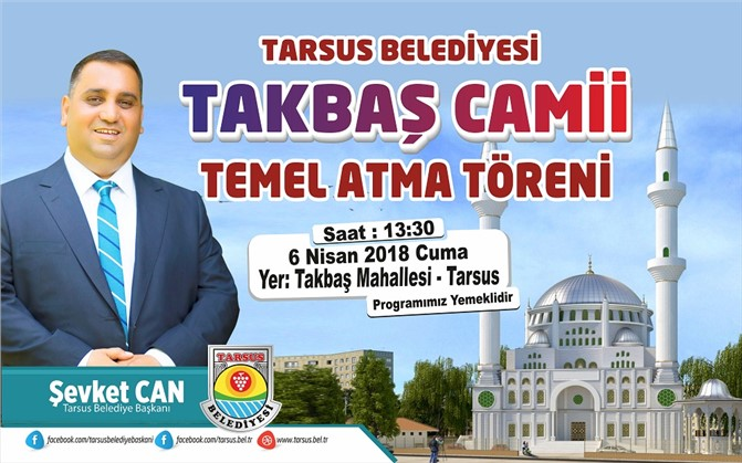 Tarsus Tekbaş Camii'nin Temeli Atılıyor
