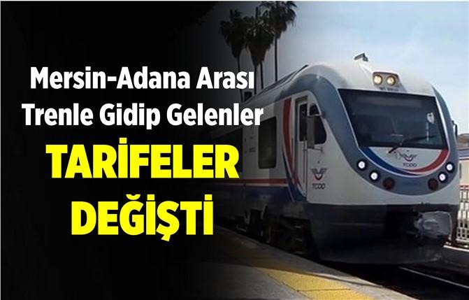 Mersin-Adana Arası Tren Yolculuğu Yapanlar Dikkat