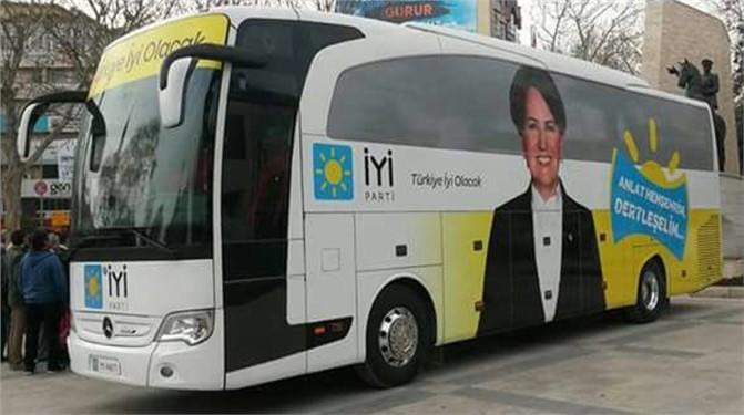 İYİ Parti'nin 'Dert Dinleyen' Otobüsü Mersin'e Geliyor