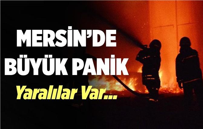 Mersin'de 5 Katlı Binada Yangın Paniği