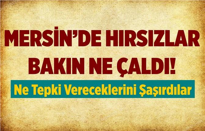 Mersin'de Hırsızlar Ne Çalacağını Şaşırdı!