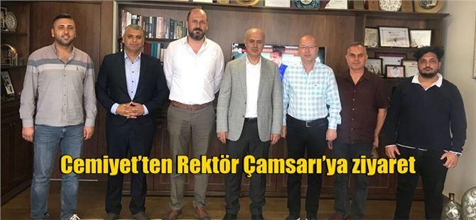 Cemiyet'ten Mersin Üniversitesi Rektörü Çamsarı'ya Ziyaret