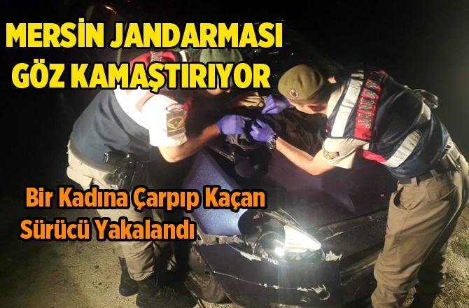Mersin'de Bir Kadına Çarpıp Kaçan Sürücü Yakalandı