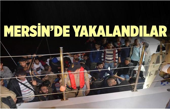 Mersin'de Kaçak Göçmenler Yakalandı