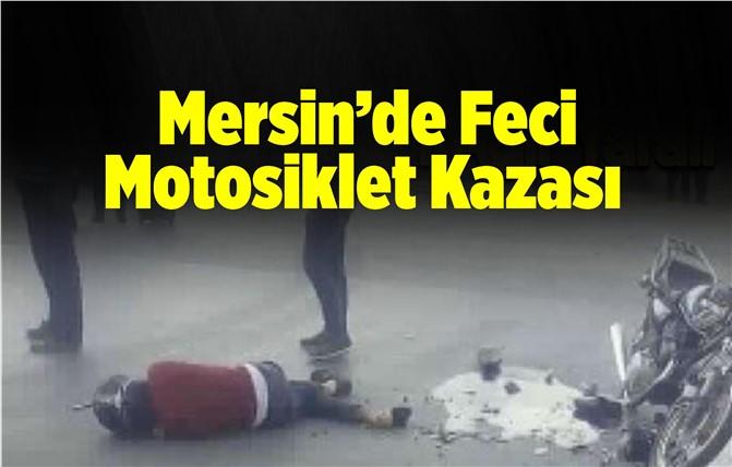 Mersin'de Motosiklet Kazası
