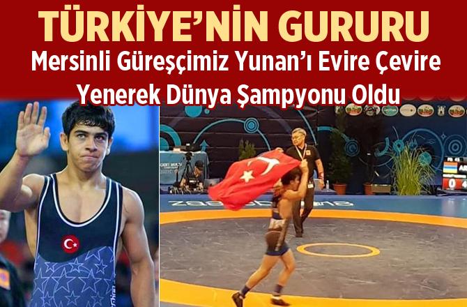 Mersinli Genç Güreşçi Hamza Alaca Dünya Şampiyonu