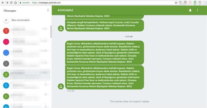 Akıllı Telefonla Bilgisayardan SMS Gönderebilirsiniz, Andorid Web SMS Gönderimi Aktif Edildi