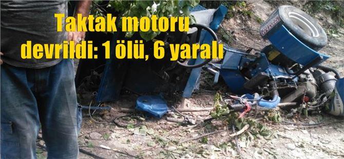 Mersin Mut'ta Taktak Motoru Devrildi: 1 Ölü, 6 Yaralı