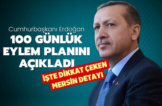 Cumhurbaşkanı Erdoğan'ın 100 Günlük İcraat Planında Mersin Detayı
