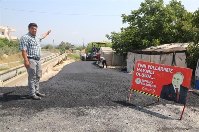 Yarenler'de Asfalt Hizmeti Erdemli Belediyesi İle Ezber Bozuyor