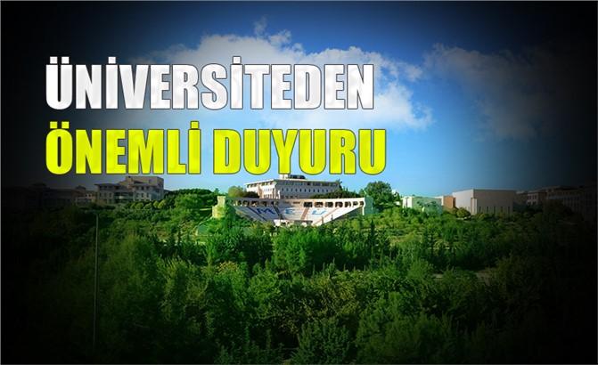 Mersin Üniversitesinden Tepki ve Destek Duyurusu