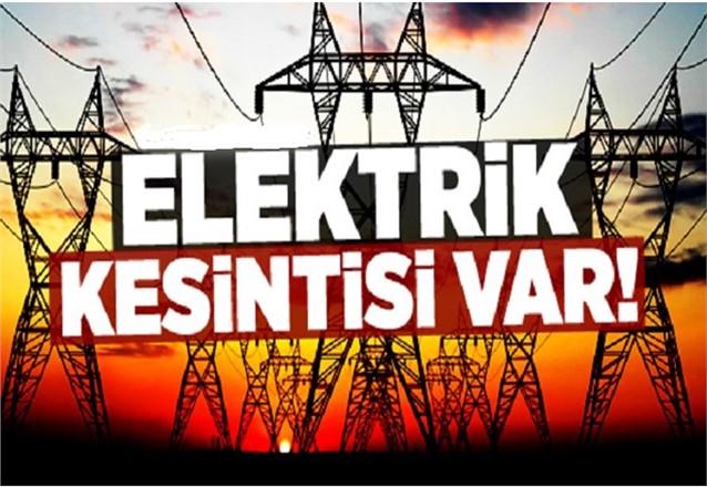 Yarın (Cuma günü) Kesintileri, Mersin Elektrik Kesintisi