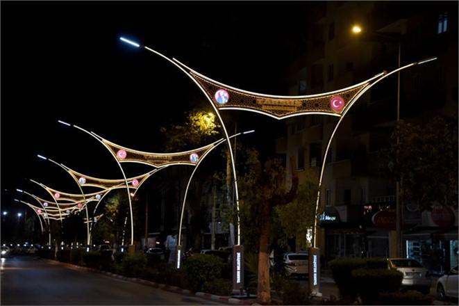 Kentin Caddelerine Uygulanan Ledli Aydınlatmalar Tarsus'un Çehresini Değiştirdi