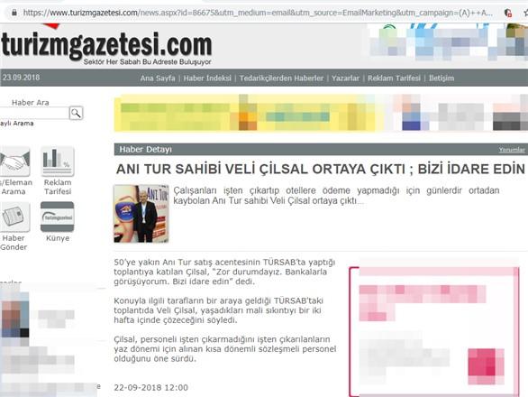 Türkiye'nin Önde Gelen Turizm Şirketinden, Borçlardan Ötürü Bizi İdare Edin Mesajı