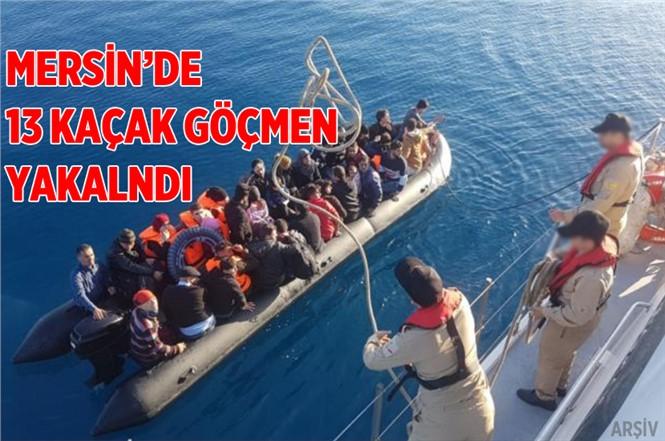 Mersin'de 13 Kaçak Göçmen Yakalandı