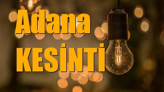 Adana Elektrik Kesintisi