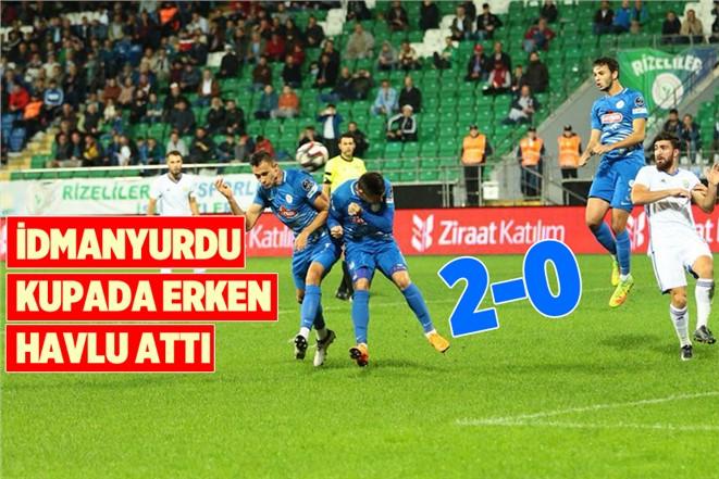 Tarsus İdmanyurdu, Ziraat Türkiye Kupasında Çaykur Rize'ye Elendi