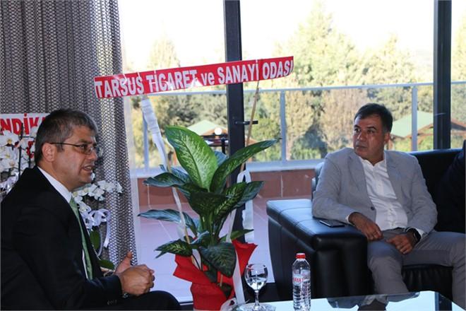 Tarsus Ticaret Odası'ndan, Tarsus Üniversitesi Rektörü Prof. Dr. Orhan Aydın'a Ziyaret