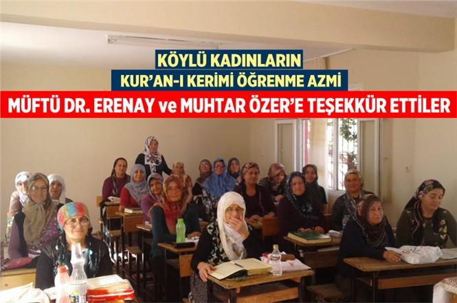 Kursiyer Kadınlardan Müftü Dr. Hayri Erenay ve Muhtar Şükrü Özer'e Teşekkür