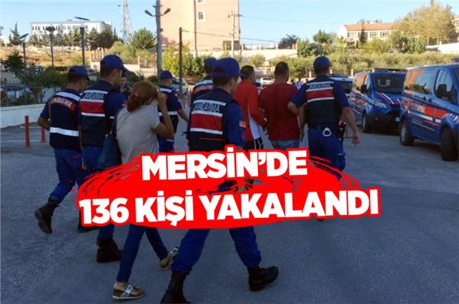 Mersin'de Jandarma Ekipleri Aranan 136 Kişi Yakalandı