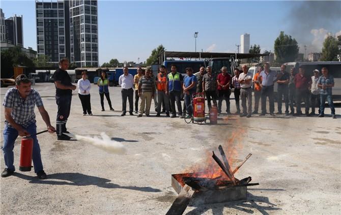Mersin Akdeniz Belediyesinde Yangın Söndürme ve İlkyardım Eğitimi