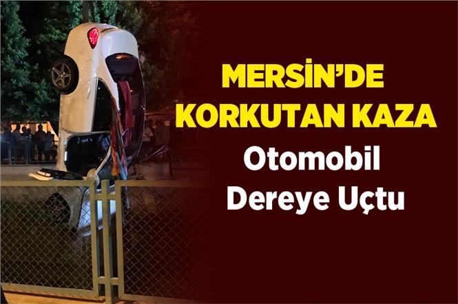 Mersin Tarsus'ta Akşam Saatlerinde Otomobil Cetvel Kanalına Düştü: 4 Yaralı