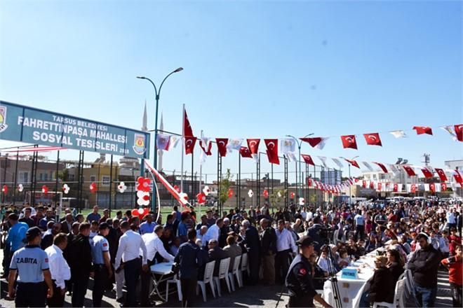 Tarsus Belediyesinin Fahrettin Paşa Mahallesi'nde Yaptığı Tesislerin Açılışı Gerçekleşti