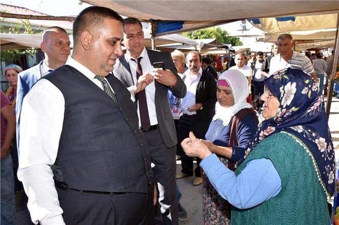 Tarsus Belediye Başkanı Can, Semt Pazarını Denetledi